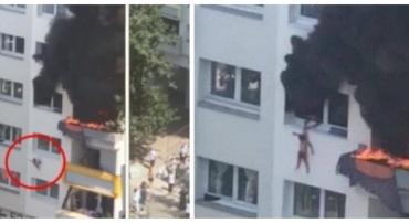 Արտակարգ դեպք. երեխաները ցած են նետվել հրդեհվող բնակարանից (տեսանյութ)
