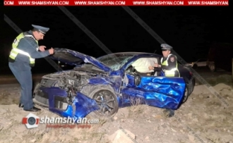 Ողբերգական ավտովթար Հայաստանում. կա 1 զոհ, 1 վիրավոր.